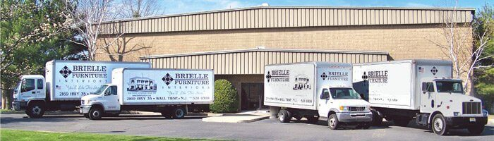 Warehouse delivery trucks